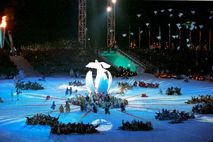 Opening seremony of The Olympic Winter Games of 1994