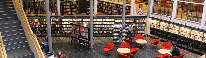 Tverrsnitt av biblioteket