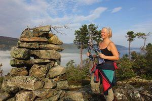 Sidsel Bryne på Inderøytur til Ramsberget