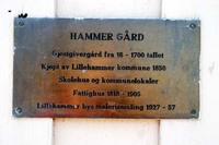 Skilt ved Hammer gård