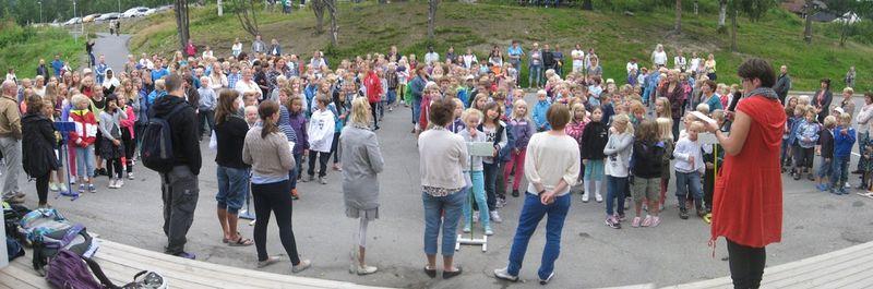 1. skoledag ved Kringsjå skole