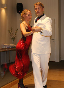 Frøydis Lilledalen Hauge og Allan Ettrup Hansen i argentinsk tangoopvvisning.