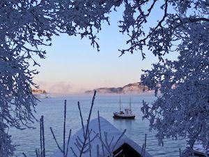 Vinterlys over Borgenfjorden