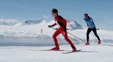 På ski. Foto: Christian Prestegård