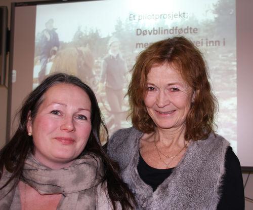 Prosjektleder Hege K. Høgmo (t.v) og prosjektmedarbeider Anne Nafstad