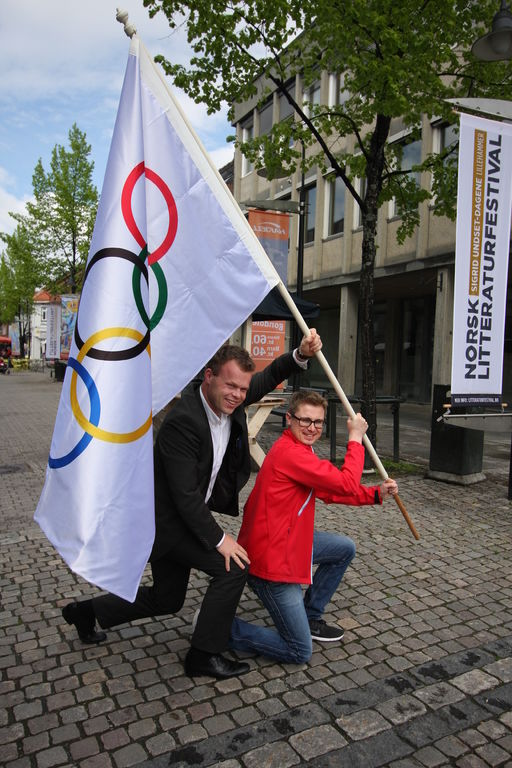 Kommunikasjonssjef Magne Vikøren  Ungdoms-OL og ordfører i Lillehammer, Espen Granberg Johnsen.