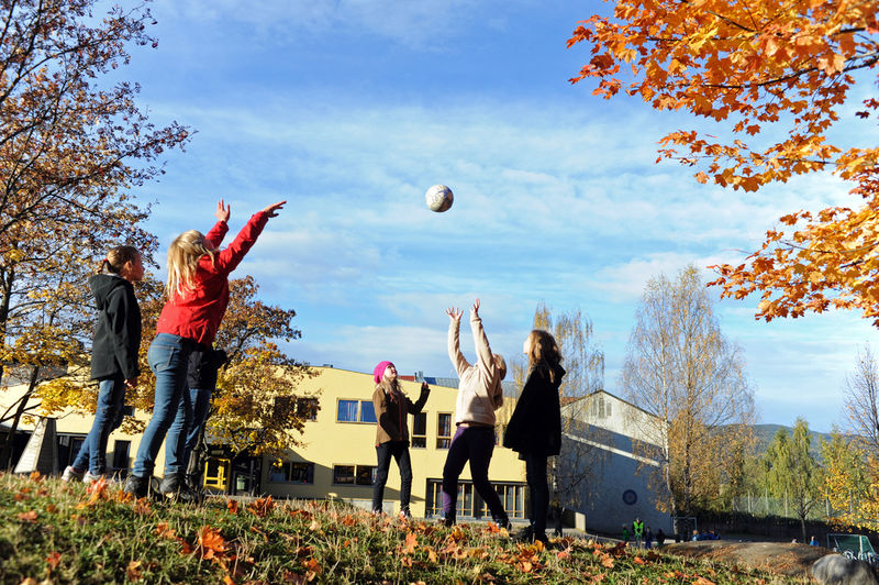 Idrett i skolen. Foto: Esben Haakenstad