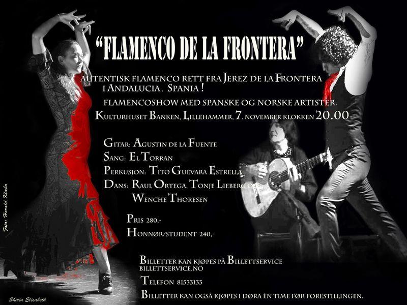 flamenco de la frontera plakat