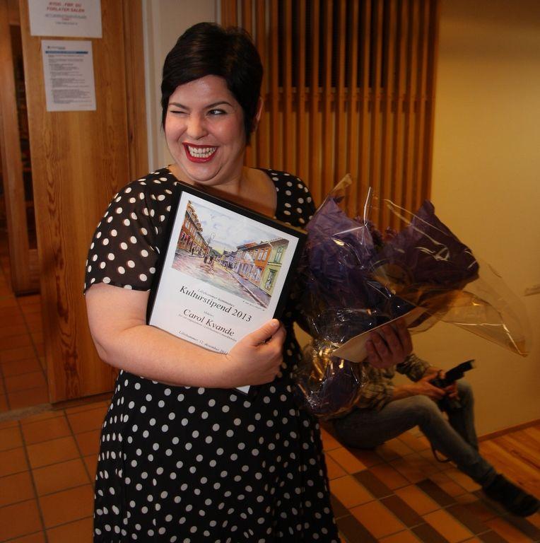 Musiker Carol Kvande tildelt Lillehammer kommunes kulturstipend,