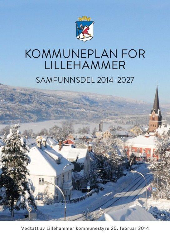 Vinterbilde av Lillehammer tatt fra Utsiktsbakken