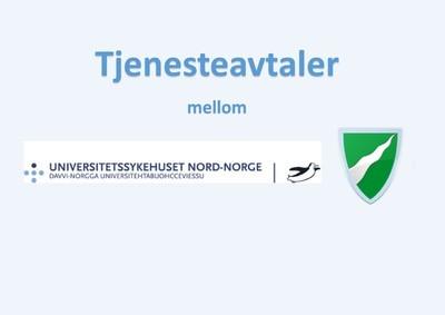 Kommunevåpen Målselv kommune og logo for Universitetsykehuset Nord-Norge