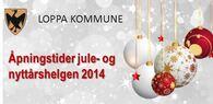 Åpningstid jul og nyttår 2014