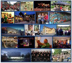 Bildekollasj av kulturlivet i Lillehammer