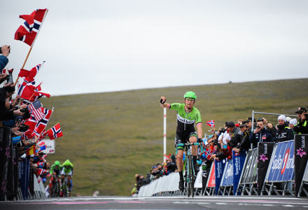 Arctic Race Of Norway 2014 - Stage 1 - Hammerfest - Nordkapp - Lars-Peter.NORDHAUG winner of the firts stage