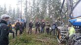 Skogbruksstudenter ved NMBU på Ås var nylig på studietur i Eidsvoll.