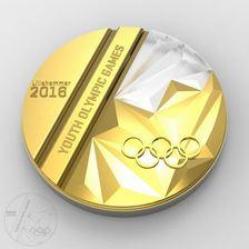 Medaljen som skal brukes under Ungdoms-OL 2016.