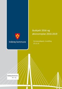 Budsjettdokument 2016 formannskapets innstilling 25