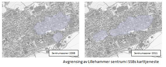 Areal og transport - Avgrensning av Lillehammer sentrum SSB.PNG