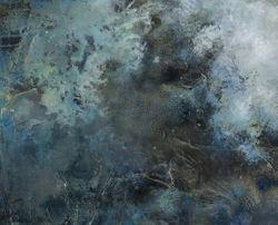 Olje og akryl på plate 70 x 85 cm