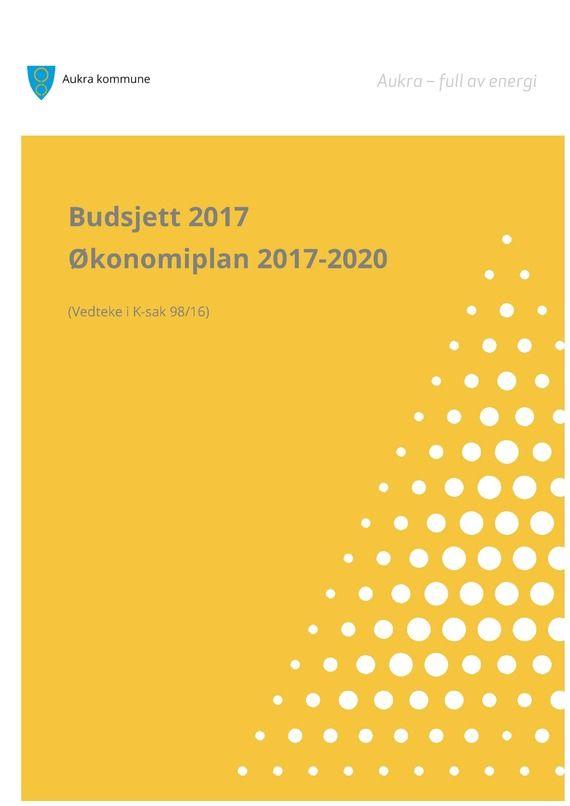 Budsjett 2017 og Økonomiplan 2017 - 2020 1_570x806