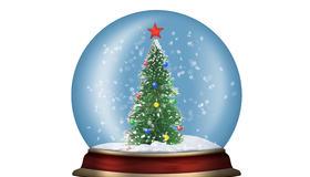 Glasskule med juletre