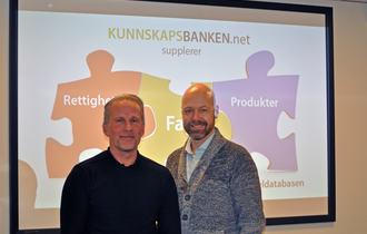 Vegard Forøy og Morten Flatebø, henholdsvis prosjektleder og redaktør for Kunnskapsbanken.net