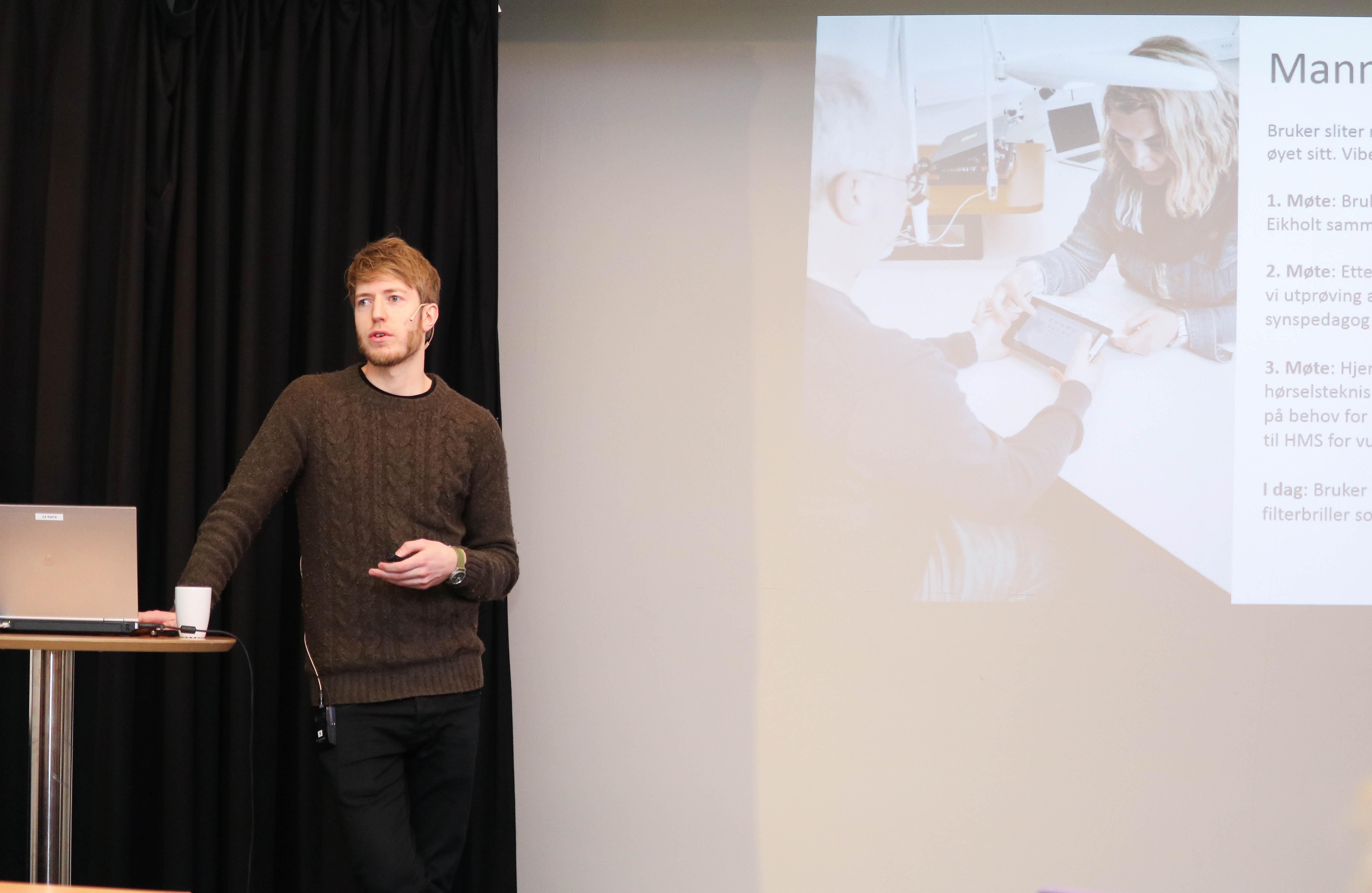 Rolf Mjønes, rådgiver ved Eikholt, legger fram et anonymisert case.
