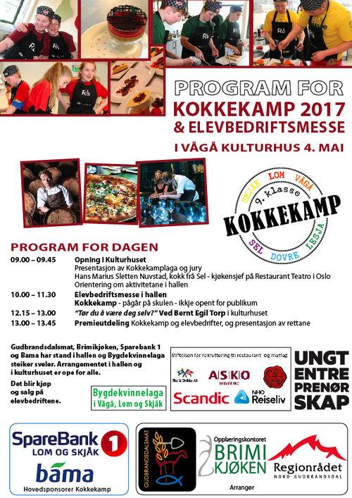 Program elevbedriftsmesse og kokkekamp 2017