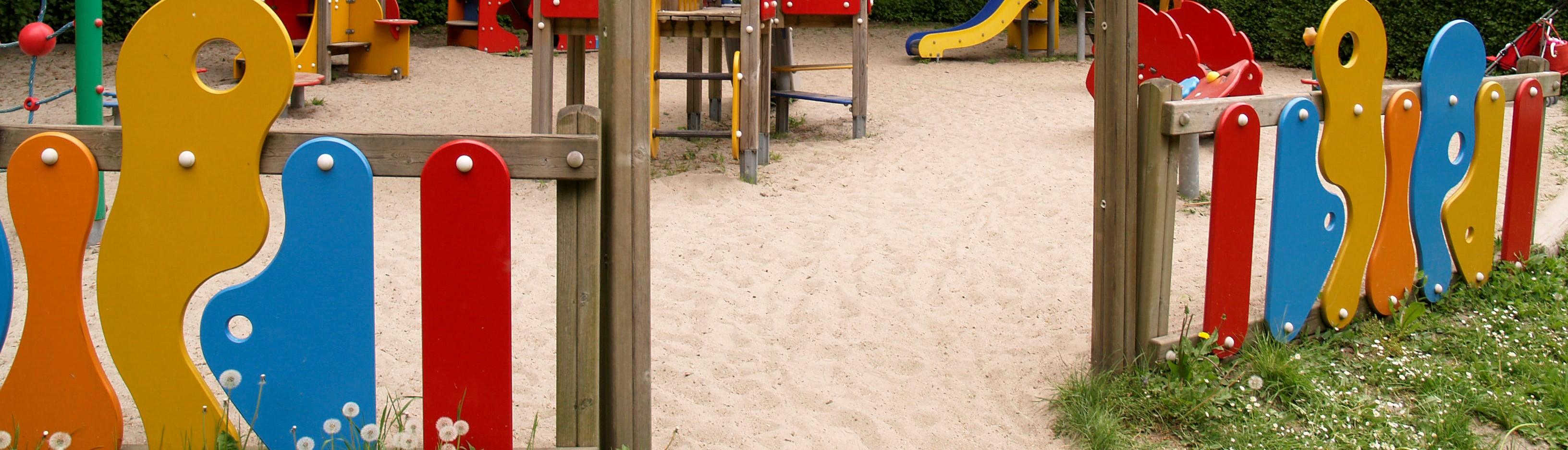 Bilde av lekegring foran lekeplass