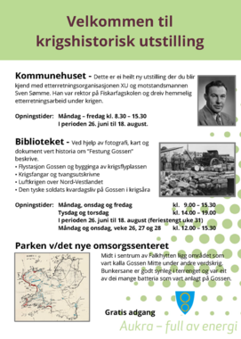 Plakat krigshistorisk utstilling