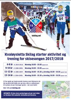 bilde av plakat om treningsoppstart 2017