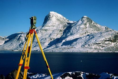 Vinterfjell landskap, landmålingsutstyr
