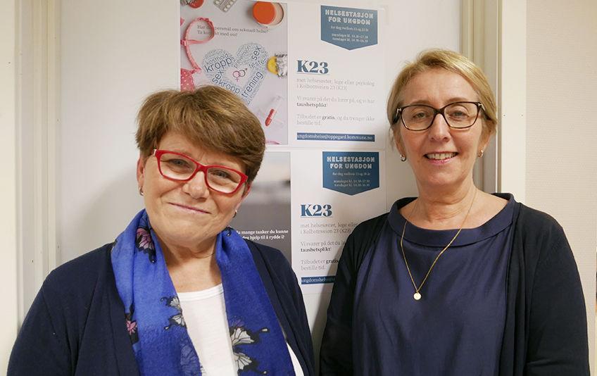 Bilde viser Wenche Mannerud og Lisbeth Hauge
