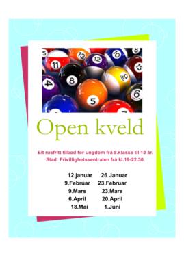 Open kveld plakat 2018
