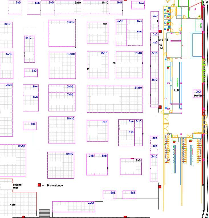 kart forslag standariserte størrelser