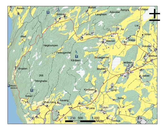 skole inderøy kart