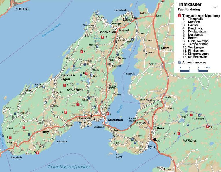 inderøy kommune kart Trimkasser   Inderøy kommune