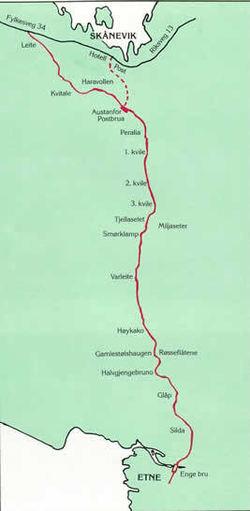 Postvegen mellom Etne og Skånevik