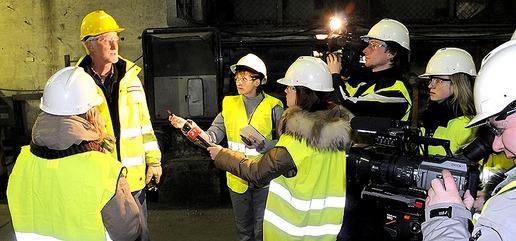 Barents Journalist visiting mine