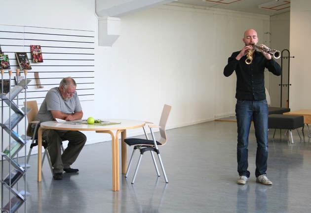Jazzmusiker Eirik Hegdal åpner Litteraturhus Nord-Trøndelag