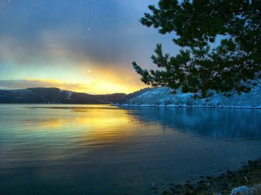 Blank sjø