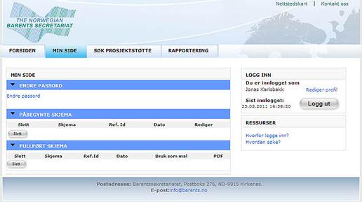 Webside e-skjema