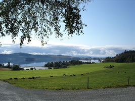 Utsikt fra Bossnes - Fjæran. Inderøytur 2011.