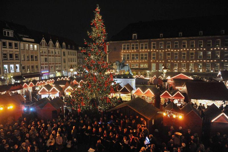 Fjorårets julegran i Düsseldorf