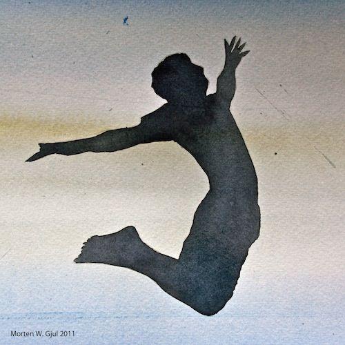 Mann som hopper