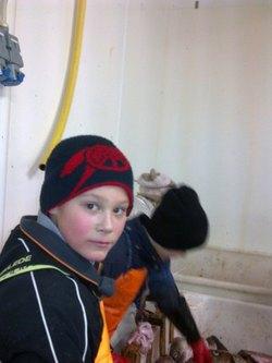 En ung torsketungeskjærer