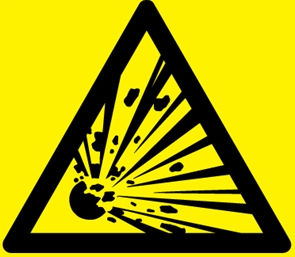 Sprengstoff advarsel