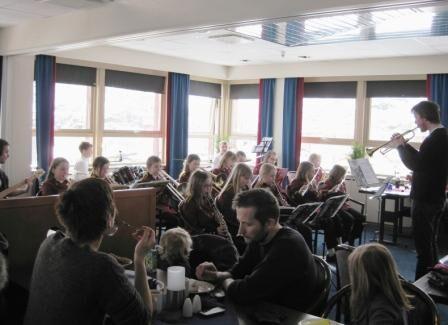 Korpskonsert på Hotell Maritim lørdag den 24. mars 2012