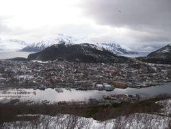 Utsikt i fra gapahuken på Stussnes