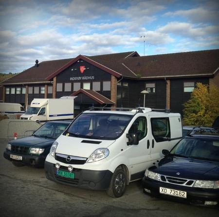 Parkering Inderøy rådhus